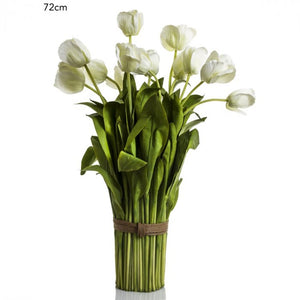 Artifical White Tulip Bundle 72 cm