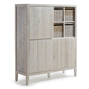 Woody Cabinet 117x140 3 Dimension Pine Wood White Wash