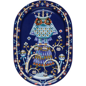 Taika - Klaus Haapaniemi - Oval Serving Platter 41cm in Blue