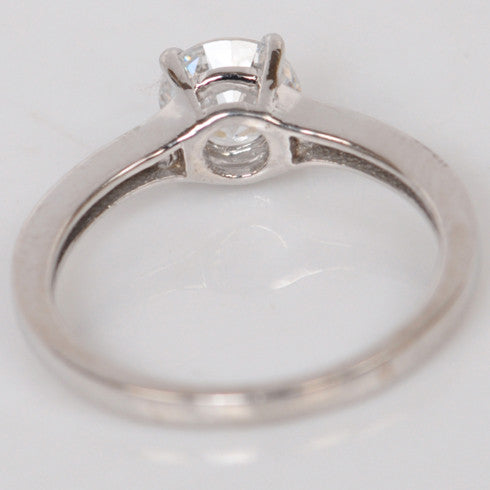 3.50 CARATS ROUND SHAPE 925 STERLING SILVER SOLITAIRE ENGAGEMENT RING