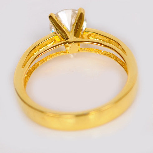1.10 CARATS AWESOME ROUND SHAPE 14KT SOLID GOLD SOLITAIRE ENGAGEMENT RING