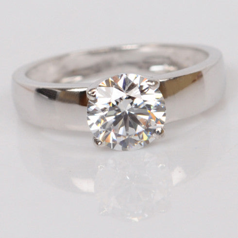 2.10 CARATS RAVISHING ROUND SHAPE 925 STERLING SILVER SOLITAIRE WEDDING RING