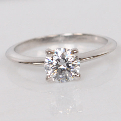 1.20 CARATS ROUND SHAPE 925 STERLING SILVER SOLITAIRE WEDDING RING