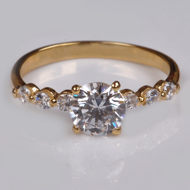 2.65 CARATS 14KT SOLID GOLD AMAZING ROUND SHAPE SOLITAIRE WEDDING & ENGAGEMENT RING