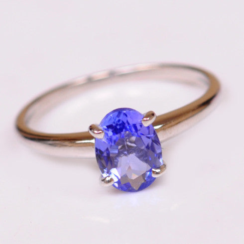 14KT SOLID GOLD 2.25 CARATS OVAL SHAPE NATURAL BLUE TANZANITE RING WITH FREE CERTIFICATE