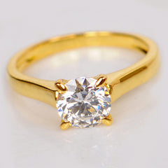 2.10 CARATS AMAZING ROUND SHAPE 14KT SOLID GOLD SOLITAIRE WEDDING RING