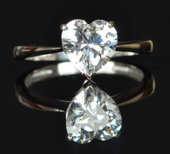 14KT SOLID GOLD 2.75 CARATS GLORIOUS HEART SHAPE SOLITAIRE WOMEN'S RING