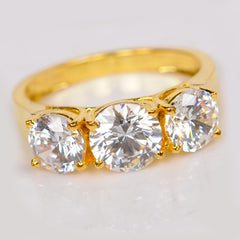 2.70 CARATS ROUND CUT REAL 14KT SOLID GOLD SOLITAIRE ENGAGEMENT RING