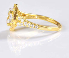 REAL 14KT SOLID GOLD 3.50 CARATS PLEASING OVAL SHAPE SOLITAIRE RING