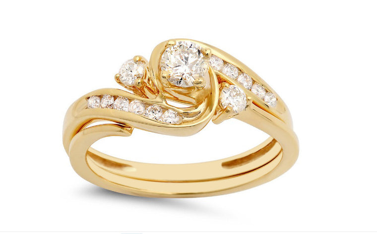 REAL 18KT SOLID GOLD 2.65 CARATS AMAZING ROUND SHAPE SOLITAIRE WEDDING RING