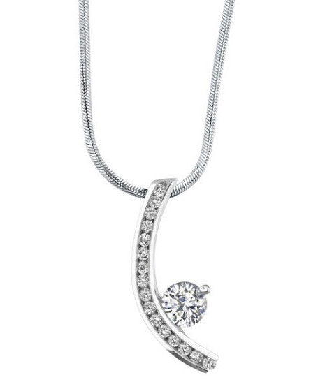 0.25CT. 925 STERLING SILVER ROUND SHAPE 100% NATURAL WHITE DIAMOND SOLITAIRE WOMEN'S PENDANT WITH FREE EGL CERTIFICATE -  WITHOUT CHAIN