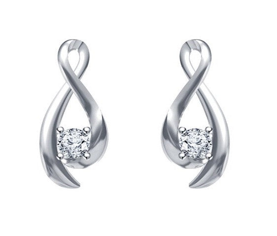 1.40 CARATS ROUND SHAPE 18KT SOLID GOLD SOLITAIRE WOMEN'S EARRINGS