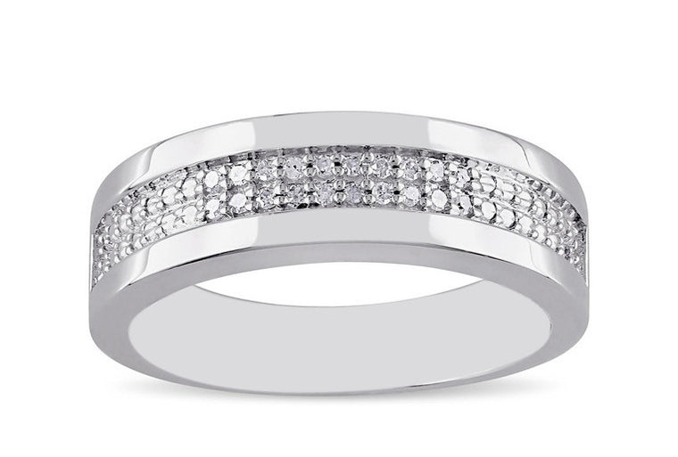 REAL 18KT SOLID GOLD 0.47CT. ROUND SHAPE 100% NATURAL WHITE DIAMOND MEN'S BAND WITH FREE EGL CERTIFICATE
