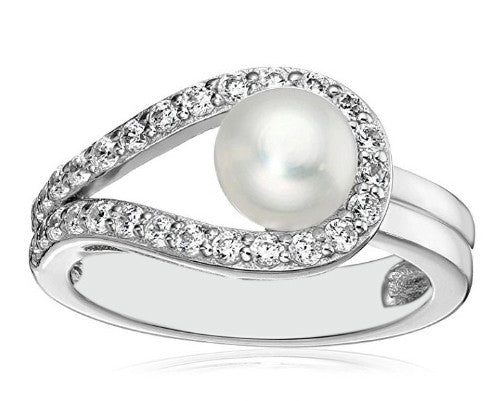 REAL 18KT SOLID GOLD 2.82 CARATS IGI CERTIFIED DIAMOND & ROUND SHAPE NATURAL FRESHWATER PEARL RING