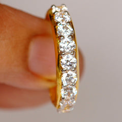 1.00 CARATS ROUND SHAPE 14KT SOLID GOLD ENGAGEMENT & WEDDING BAND