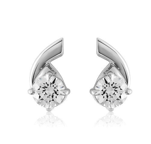 2.60 CARATS REAL 18KT SOLID GOLD ROUND SHAPE SOLITAIRE WOMEN'S EARRINGS