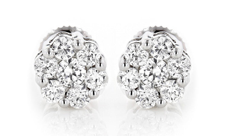 14KT SOLID GOLD 0.35CT. ROUND SHAPE 100% NATURAL WHITE DIAMOND EGL CERTIFIED SOLITAIRE EARRINGS