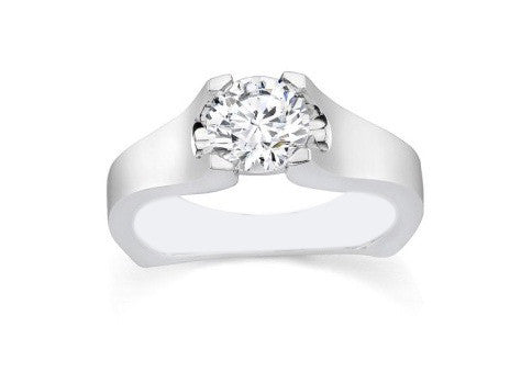 1.55 CARATS ROUND SHAPE TOP QUALITY 14KT SOLID GOLD SOLITAIRE RING