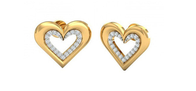 100% IGI CERTIFIED NATURAL WHITE DIAMOND 0.35CT. REAL 18KT SOLID GOLD ROUND SHAPE WEDDING EARRINGS