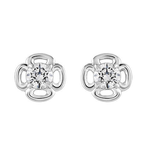 2.40 CARATS REAL 18KT SOLID GOLD ROUND SHAPE SOLITAIRE WOMEN'S EARRINGS