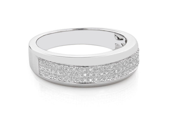 0.50CT. ROUND SHAPE 14KT SOLID GOLD 100% NATURAL WHITE DIAMOND BAND WITH FREE EGL CERTIFICATE