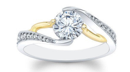 1.65 CARATS 14KT SOLID GOLD ROUND SHAPE SOLITAIRE ENGAGEMENT RING