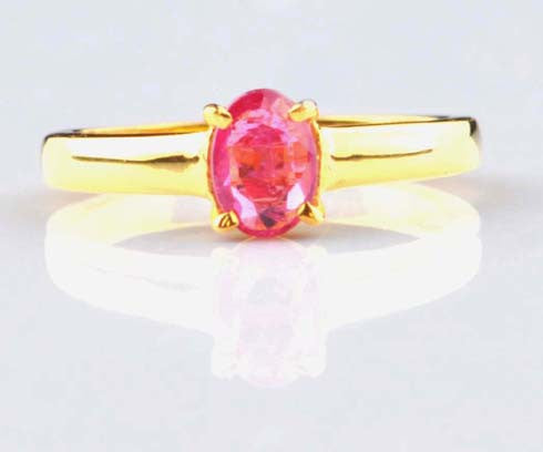 14K SOLID GOLD 2.00 CARATS OVAL SHAPE 100 % NATURAL PINK TOURMALINE RING WITH FREE CERTIFICATE