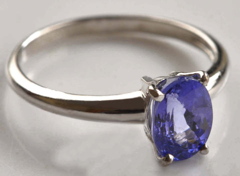 REAL 18KT SOLID GOLD 2.30 CARATS OVAL SHAPE 100% NATURAL BLUE TANZANITE RING WITH FREE CERTIFICATE