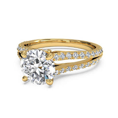 14KT SOLID GOLD 1.00 CARATS ROUND SHAPE SOLITAIRE ENGAGEMENT RING