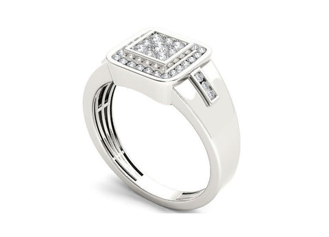 18KT SOLID GOLD 0.65CT. ROUND SHAPE 100% NATURAL WHITE DIAMOND MEN'S BAND WITH FREE EGL CERTIFICATE