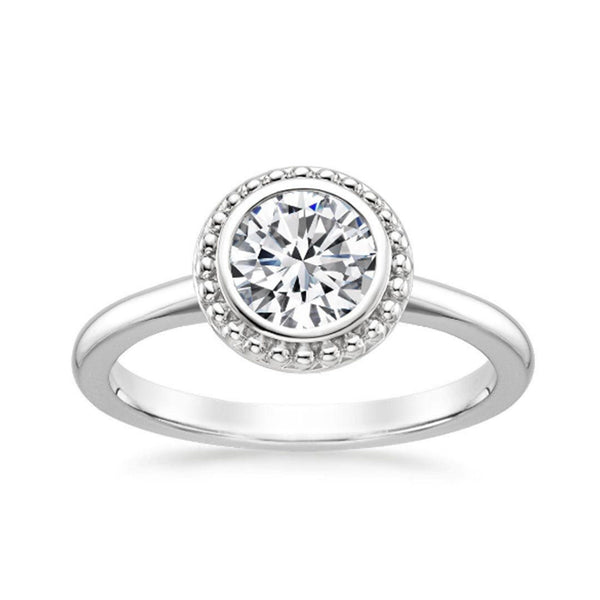 BEAUTIFUL ROUND SHAPE 1.10 CARATS 925 STERLING SILVER SOLITAIRE WEDDING & ENGAGEMENT RING