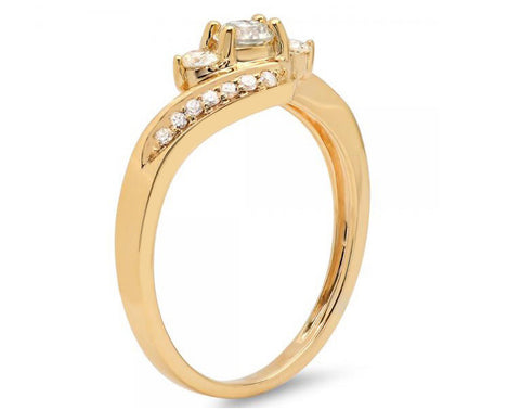 2.30 CARATS REAL 18KT SOLID GOLD GORGEOUS ROUND SHAPE SOLITAIRE ENGAGEMENT RING
