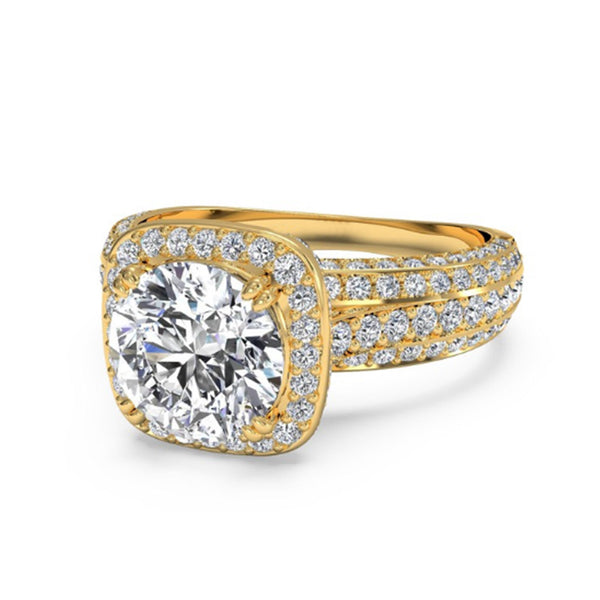14KT SOLID GOLD 1.55 CARATS EXCLUSIVE ROUND SHAPE SOLITAIRE WEDDING RING