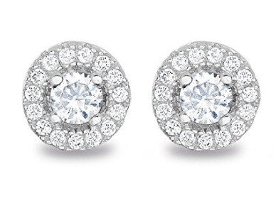 2.30 CARATS ROUND SHAPE REAL 18KT SOLID GOLD SOLITAIRE WOMEN'S STUDS