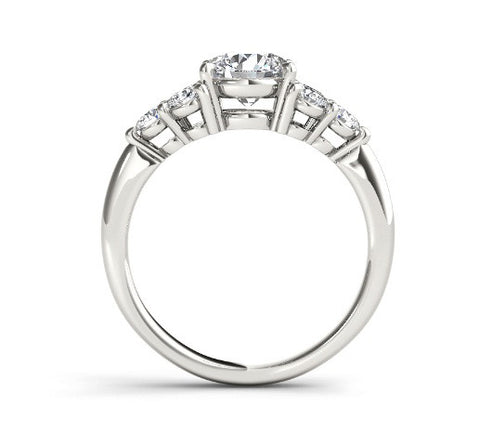 REAL 18KT SOLID GOLD ROUND SHAPE 2.10 CARATS SOLITAIRE ENGAGEMENT RING