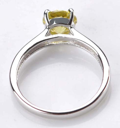 2.00 CARATS ROUND SHAPE 14KT SOLID GOLD SOLITAIRE ENGAGEMENT RING