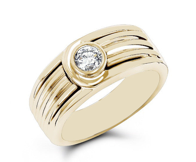 18KT SOLID GOLD 1.65 CARATS AWESOME ROUND SHAPE SOLITAIRE MEN'S RING