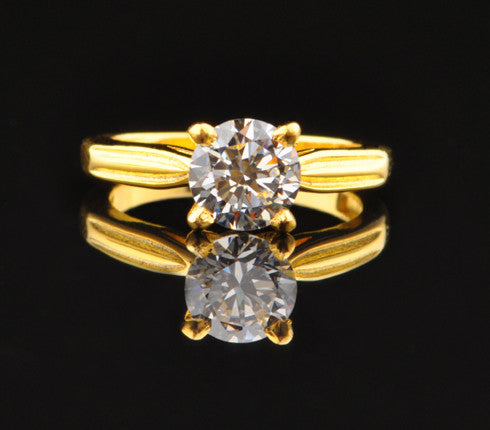 2.75 CARATS 14KT SOLID GOLD AMAZING ROUND SHAPE SOLITAIRE WEDDING RING