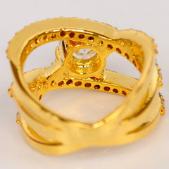 2.50 CARATS GORGEOUS ROUND SHAPE 14KT SOLID GOLD SOLITAIRE WEDDING RING
