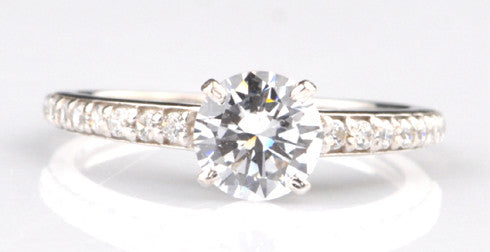 2.45 CARATS EXCELLENT ROUND CUT 14KT SOLID GOLD SOLITAIRE PROPOSAL RING