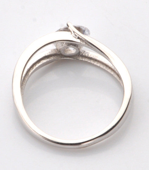 1.25 CARATS 925 STERLING SILVER SOLITAIRE BEAUTIFUL ROUND SHAPE WEDDING RING