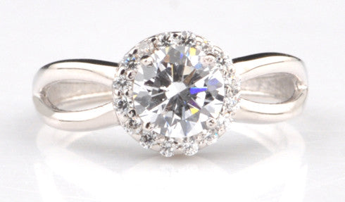 14KT SOLID GOLD ROUND SHAPE 2.25 CARATS ENGAGEMENT & WEDDING RING