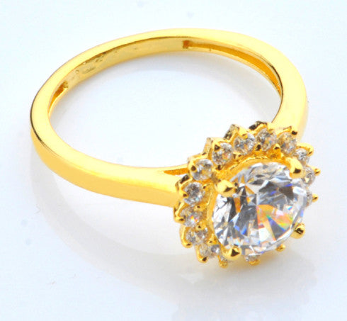 14KT SOLID GOLD ROUND SHAPE 2.50 CARATS ENGAGEMENT & WEDDING RING