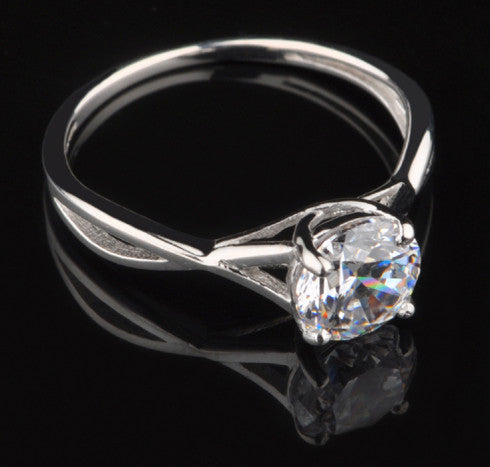 1.85 CARATS 14KT SOLID GOLD CLASSY ROUND CUT SOLITAIRE WEDDING RING