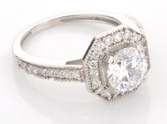 3.70 CARATS DAZZLING ROUND SHAPE 14KT SOLID GOLD SOLITAIRE ENGAGEMENT RING