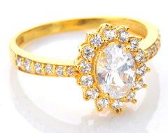 REAL 14KT SOLID GOLD 2.20 CARATS EXCELLENT OVAL CUT SOLITAIRE ANNIVERSARY RING