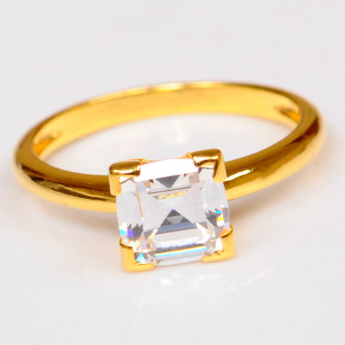 2.60 CARATS AMAZING CUSHION SHAPE 14KT SOLID GOLD SOLITAIRE ANNIVERSARY RING