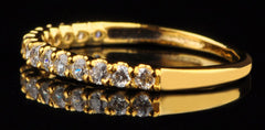 14KT SOLID GOLD 0.80CT. SOLITAIRE SUPERB QUALITY ROUND SHAPE WEDDING BAND