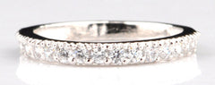 0.80CT. ROUND SHAPE 925 STERLING SILVER SOLITAIRE WEDDING BAND