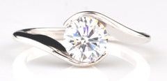 14KT SOLID GOLD 1.95 CARATS GLORIOUS ROUND SHAPE SOLITAIRE ENGAGEMENT RING